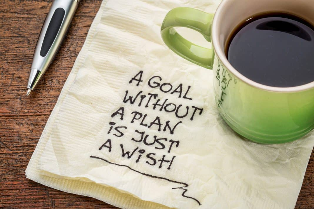 goal setting - achieving goals - professional plan